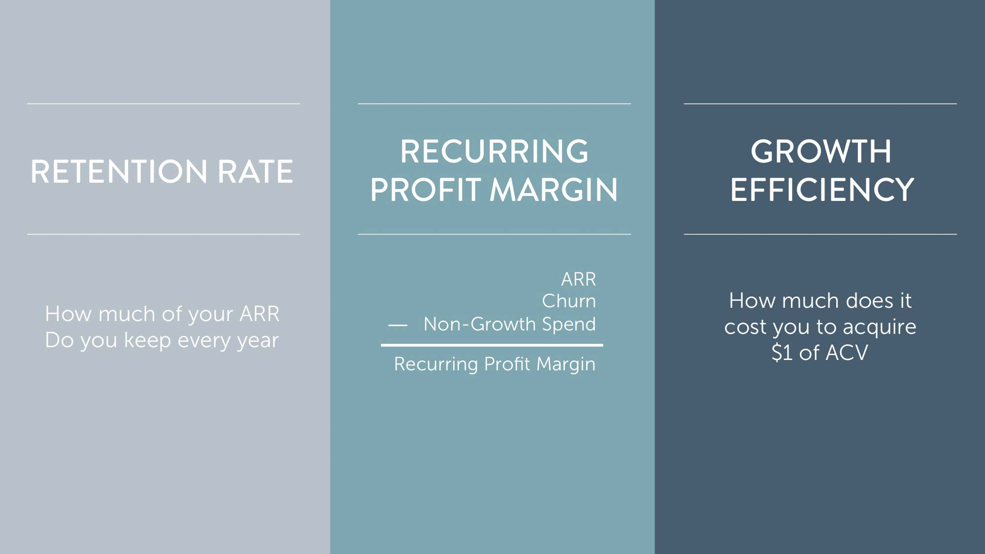 Measure customer success: calculate ARR, recurring profit margin, growth efficiency
